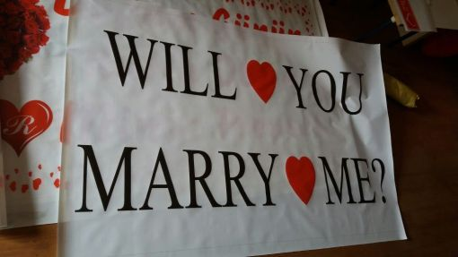 Marriage proposal banner